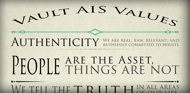 Vault AIS Values