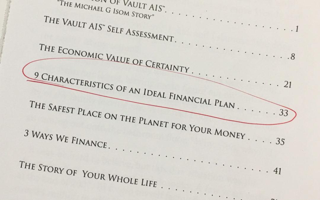 9 Characteristics of an Ideal Financial Plan